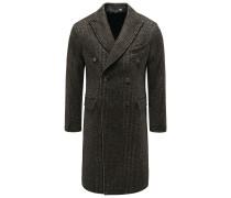 Mantel 'Aantigono' dunkelbraun/grün