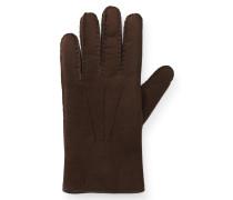 Handschuhe Veloursleder braun