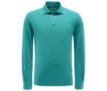 Longsleeve-Poloshirt grün