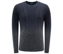 R-Neck Pullover dunkelgrau