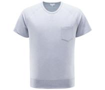 R-Neck Kurzarm-Sweatshirt grau