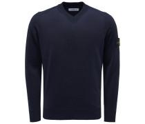 V-Ausschnitt-Pullover navy