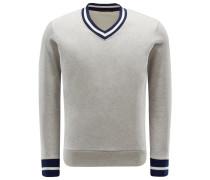 V-Neck Sweatshirt 'Lero' grau