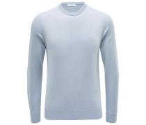 Cashmere R-Neck Pullover silbergrau