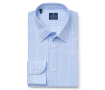 Business Hemd Kent-Kragen blau/weiß