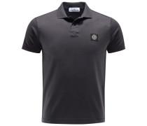 Jersey-Poloshirt anthrazit