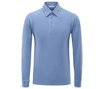 Langarm-Poloshirt 'Bolina' rauchblau