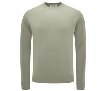 Cashmere R-Neck Pullover oliv