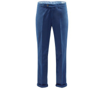 Chino 'Traditional Fit' blau