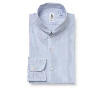 Casual Hemd 'Augusto Tokyo' Tab-Kragen blau/weiß
