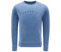 R-Neck Sweatshirt rauchblau