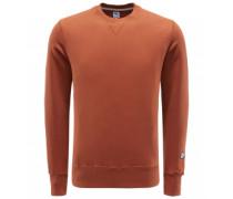 R-Neck Sweatshirt 'Aamerican' rotbraun