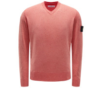 V-Neck Pullover rot