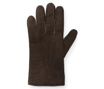 Handschuhe Veloursleder dunkelbraun