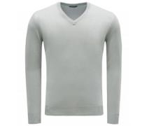 Cashmere V-Neck Pullover hellgrau