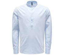 Popover-Hemd Grandad-Kragen hellblau