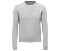 Cashmere R-Neck Pullover hellgrau