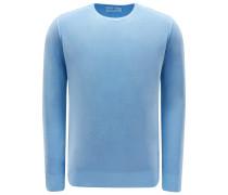 R-Neck Pullover hellblau