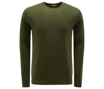 R-Neck Pullover oliv