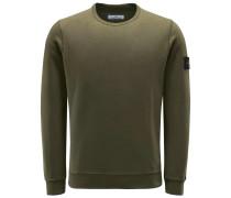 Sweatshirt mit Rundhals oliv