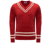 V-Ausschnitt-Pullover 'Cervinia' rot