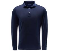 Longsleeve Poloshirt 'Zero' navy
