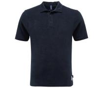 Frottee-Poloshirt navy