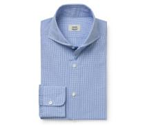 Business Hemd Haifisch-Kragen blau/weiß