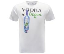 R-Neck T-Shirt 'Vegan Vodka' weiß