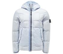 Daunenjacke 'Garment Dyed Crinkle Reps NY Down' pastellblau