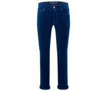 Fustagno-Hose 'J688 Comfort Slim Fit' dunkelblau