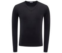 Cashmere V-Neck Pullover schwarz
