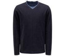 V-Ausschnitt-Pullover 'Le10v' graublau