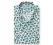 Kurzarmhemd Reverskragen grün