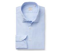 Casual Hemd 'Tailor Fit' schmaler Kragen blau