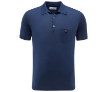 Strick-Poloshirt navy