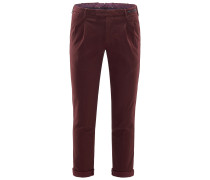 Chino 'Skinny Fit' bordeaux