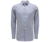 Casual Hemd Button-Down-Kragen navy/grau