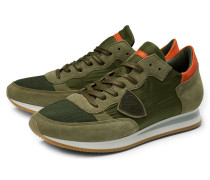 Sneaker 'Tropez' oliv/orange