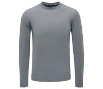 Cashmere R-Neck Pullover grau