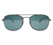 Sonnenbrille 'Luca' schwarz/grün