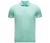 Kurzarm-Strickpolo mintgrün