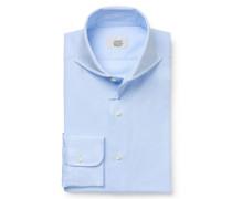 Oxford Hemd Haifisch-Kragen pastellblau