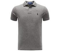 Jersey-Poloshirt grau