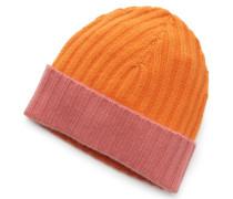 Cashmere Mütze 'Eric Block' rosé/orange