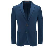 Jersey-Sakko dunkelblau