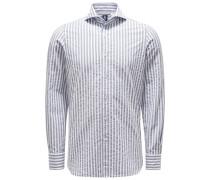 Casual Hemd 'Sergio Gaeta' Haifisch-Kragen grau/weiß