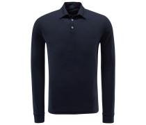 Longsleeve-Poloshirt dark navy
