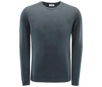 Cashmere R-Neck Pullover graugrün