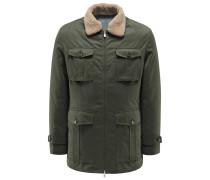 Daunen-Field-Jacket oliv